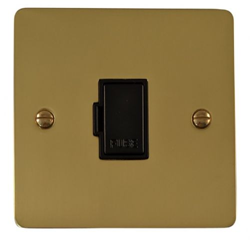G&H FB90B Flat Plate Polished Brass 1 Gang Fused Spur 13A Unswitched